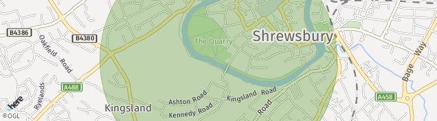 Map of Shrewsbury