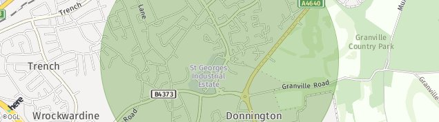 Map of Donnington