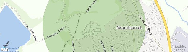 Map of Mountsorrel
