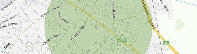 Map of Loughborough