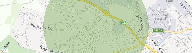 Map of Loughborough