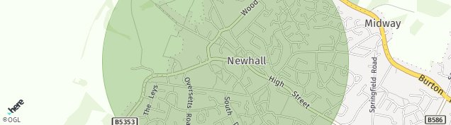 Map of Newhall