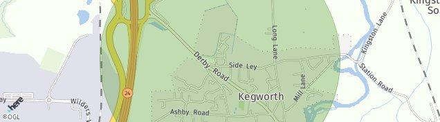 Map of Kegworth