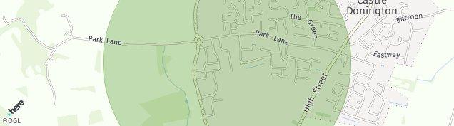 Map of Castle Donington