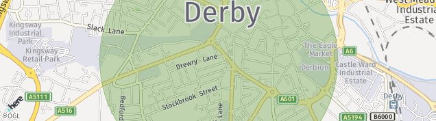 Map of Derby