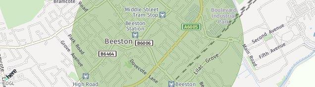 Map of Beeston