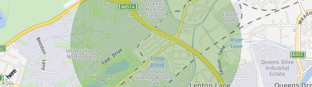 Map of Nottingham