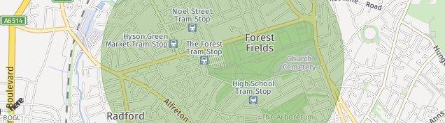 Map of Nottingham