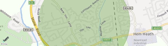 Map of Stoke-on-Trent