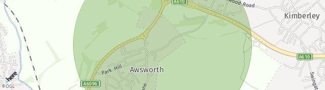 Map of Awsworth