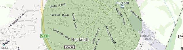 Map of Hucknall