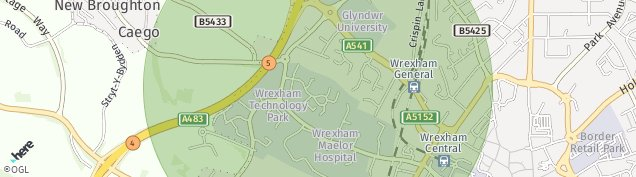 Map of Wrexham Technology Park