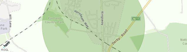 Map of Kirkby-in-Ashfield