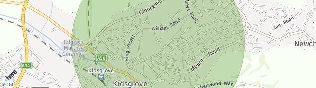Map of Kidsgrove