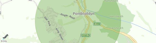 Map of Pontblyddyn