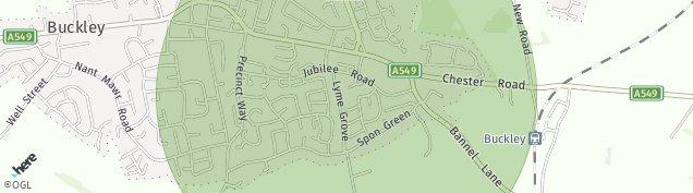 Map of Buckley