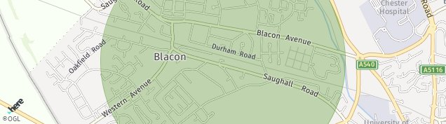 Map of Blacon
