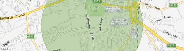 Map of Chesterfield