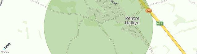 Map of Pentre Halkyn