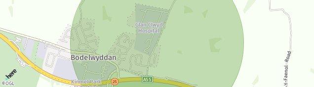 Map of Bodelwyddan