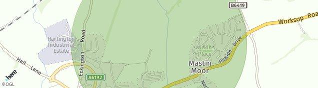 Map of Mastin Moor