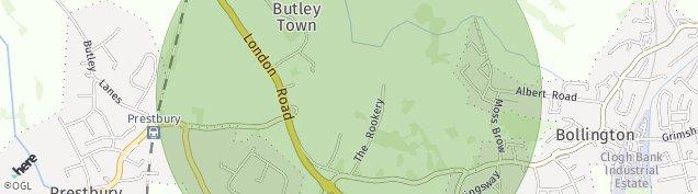 Map of Prestbury
