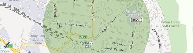Map of Worksop