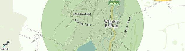 Map of Whaley Bridge