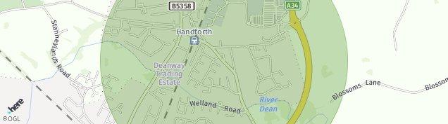 Map of Handforth