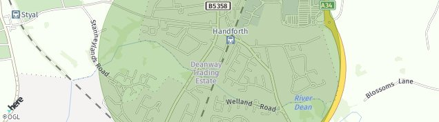 Map of Handforth