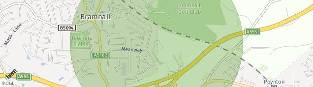 Map of Bramhall