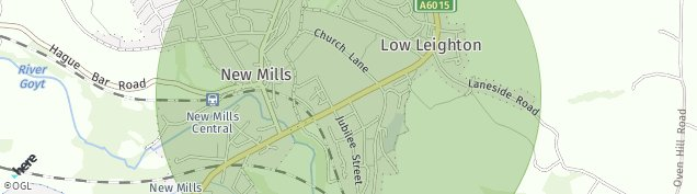 Map of New Mills