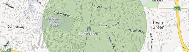 Map of Heald Green