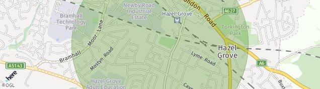 Map of Hazel Grove