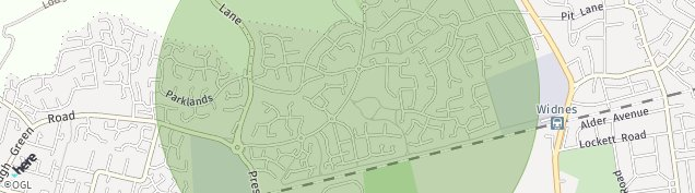 Map of Widnes