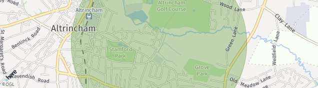 Map of Altrincham