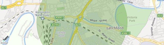 Map of Warrington