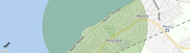 Map of Hoylake