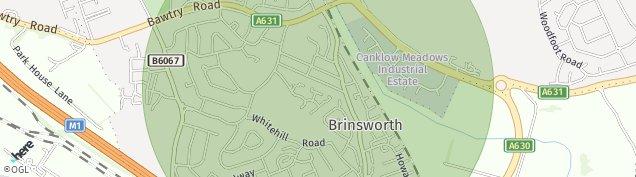 Map of Brinsworth