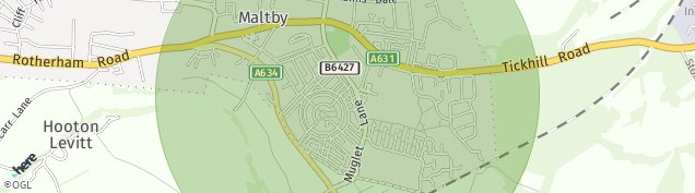 Map of Maltby