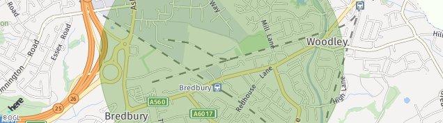 Map of Bredbury