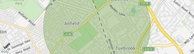 Map of Tuebrook