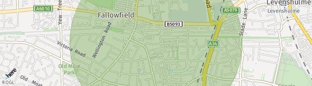 Map of Fallowfield