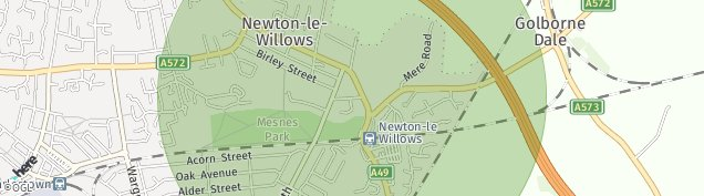 Map of Newton-Le-Willows