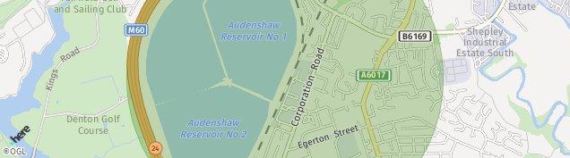 Map of Denton