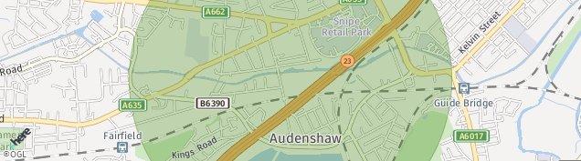 Map of Audenshaw