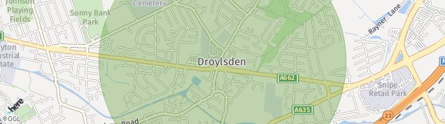 Map of Droylsden