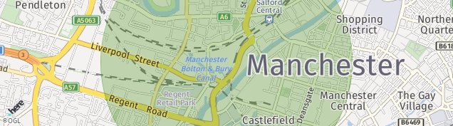 Map of Salford