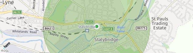 Map of Stalybridge