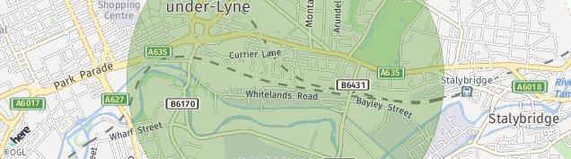 Map of Ashton-Under-Lyne